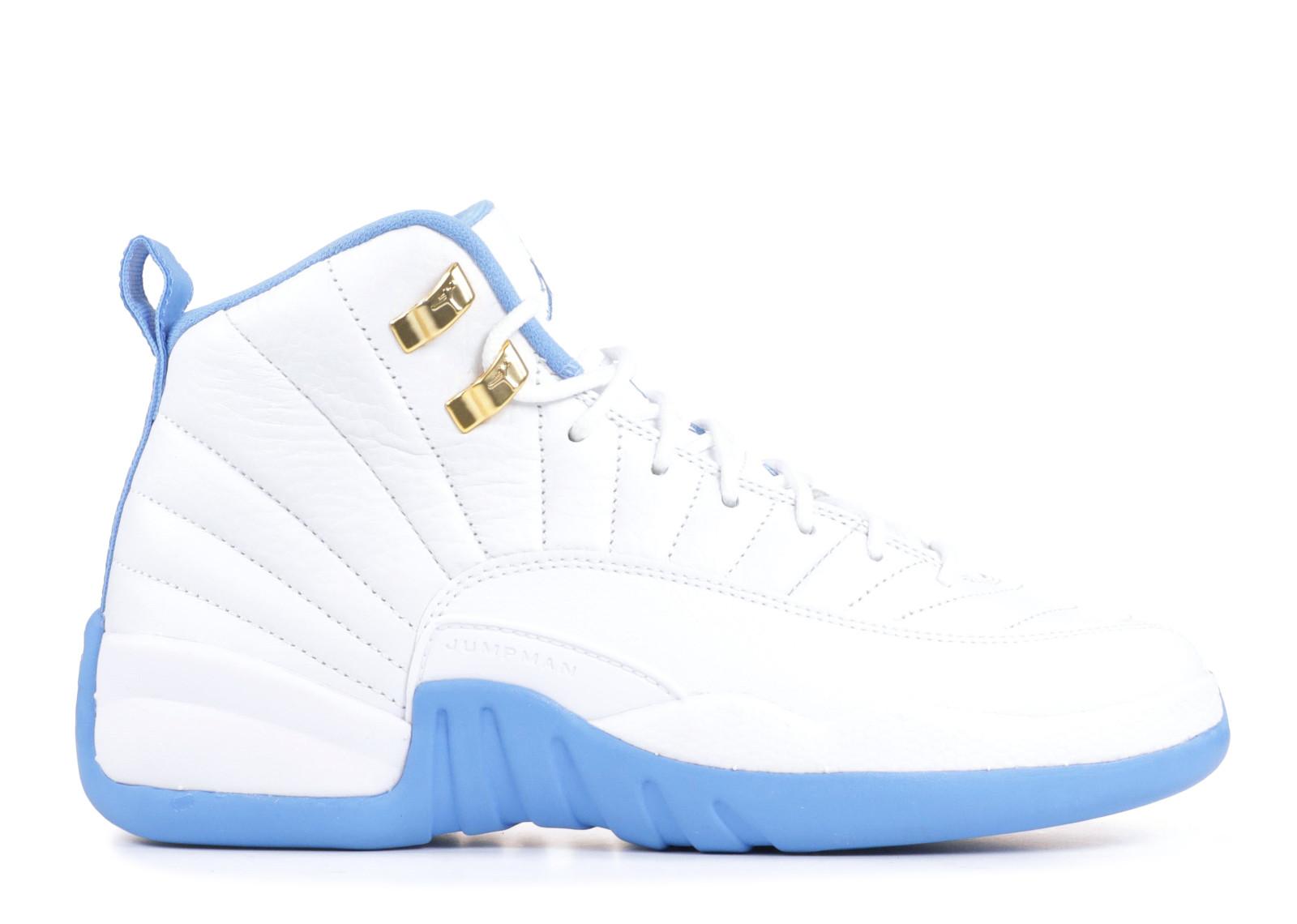 エアー ジョーダン レトロ メロ 青 ブルー メンズ 男性用 靴 メンズ靴 スニーカー 【 AIR JORDAN BLUE 12 RETRO GG GS MELO WHITE METALLIC GOLDUNIVERSITY 】