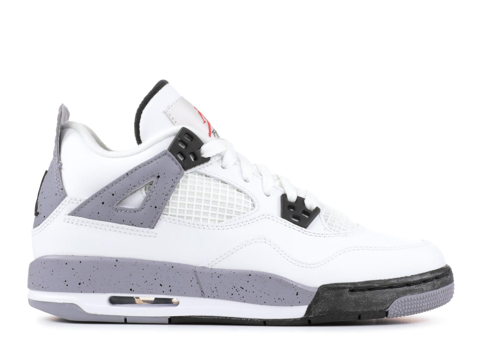 エアー ジョーダン レトロ GRAY灰色 グレイ メンズ 男性用 メンズ靴 スニーカー 靴 【 AIR JORDAN GREY 4 RETRO GS 2012 RELEASE WHITE BLACKCEMENT 】