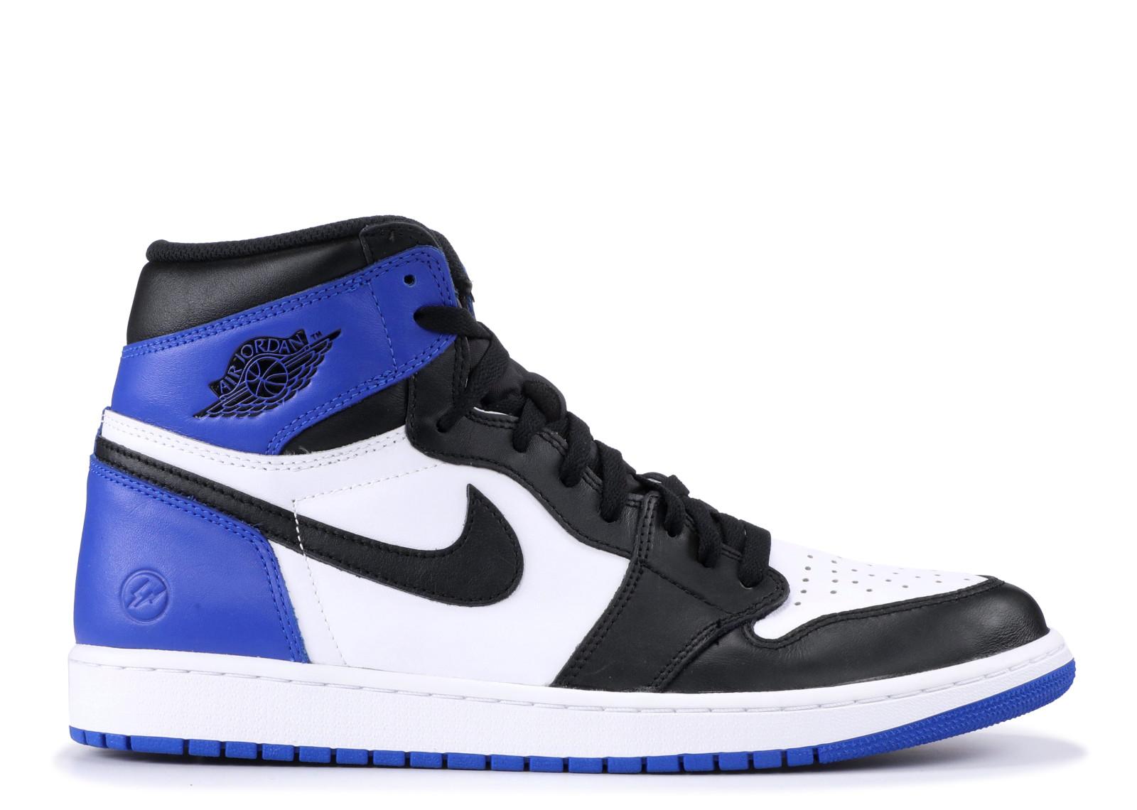 エアー ジョーダン メンズ 男性用 メンズ靴 スニーカー 靴 【 AIR JORDAN 1 X FRAGMENT BLACK SPORT ROYALWHITE 】