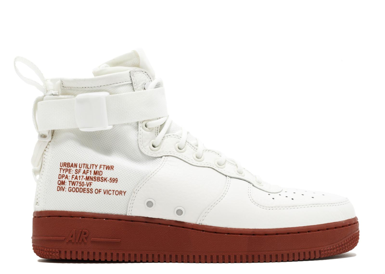 ナイキ エスエフ エアフォース1 ミッド 赤 レッド アイボリー ストーン メンズ 男性用 スニーカー メンズ靴 靴 【 NIKE SF AF1 MID RED IVORY IVORYMARS STONE 】