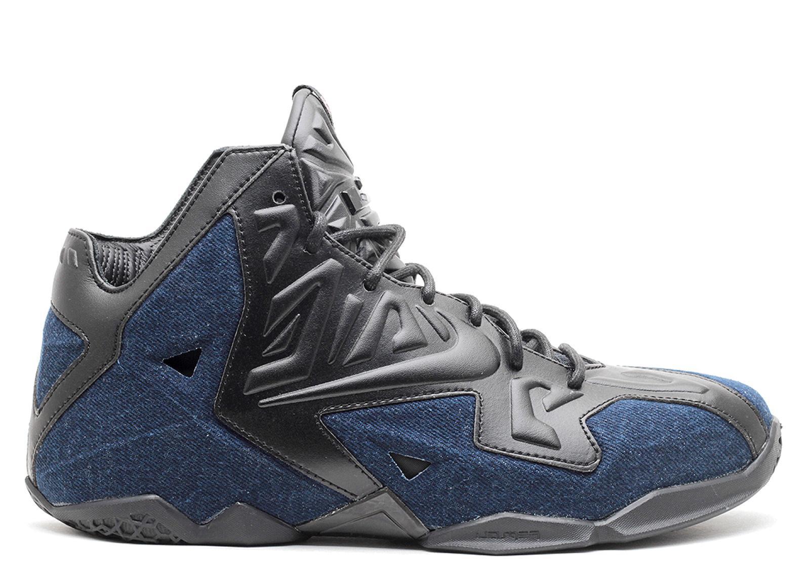 ナイキ レブロン デニム メンズ 男性用 靴 メンズ靴 スニーカー 【 NIKE LEBRON 11 EXT DENIM QS BLAC BLACKDENIM 】