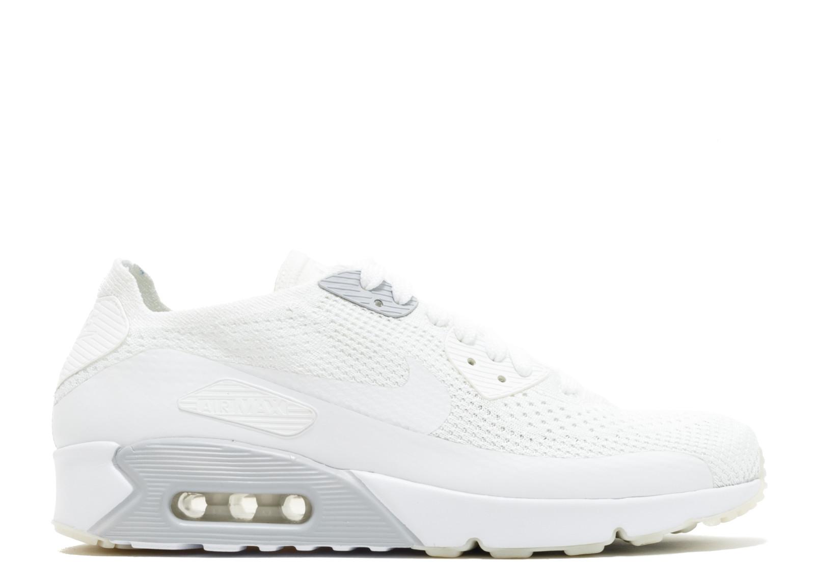 ナイキ エアー マックス ウルトラ フライニット プラチナム 2.0 メンズ 男性用 靴 メンズ靴 スニーカー 【 NIKE AIR ULTRA PLATINUM MAX 90 FLYKNIT WHITE WHITEPURE 】