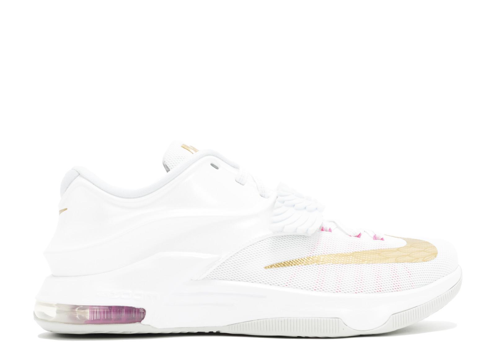 ナイキ パール メンズ 男性用 スニーカー メンズ靴 靴 【 NIKE KD 7 PRM AUNT PEARL WHITE MTLLC GLDPNK PWPR PLTN 】