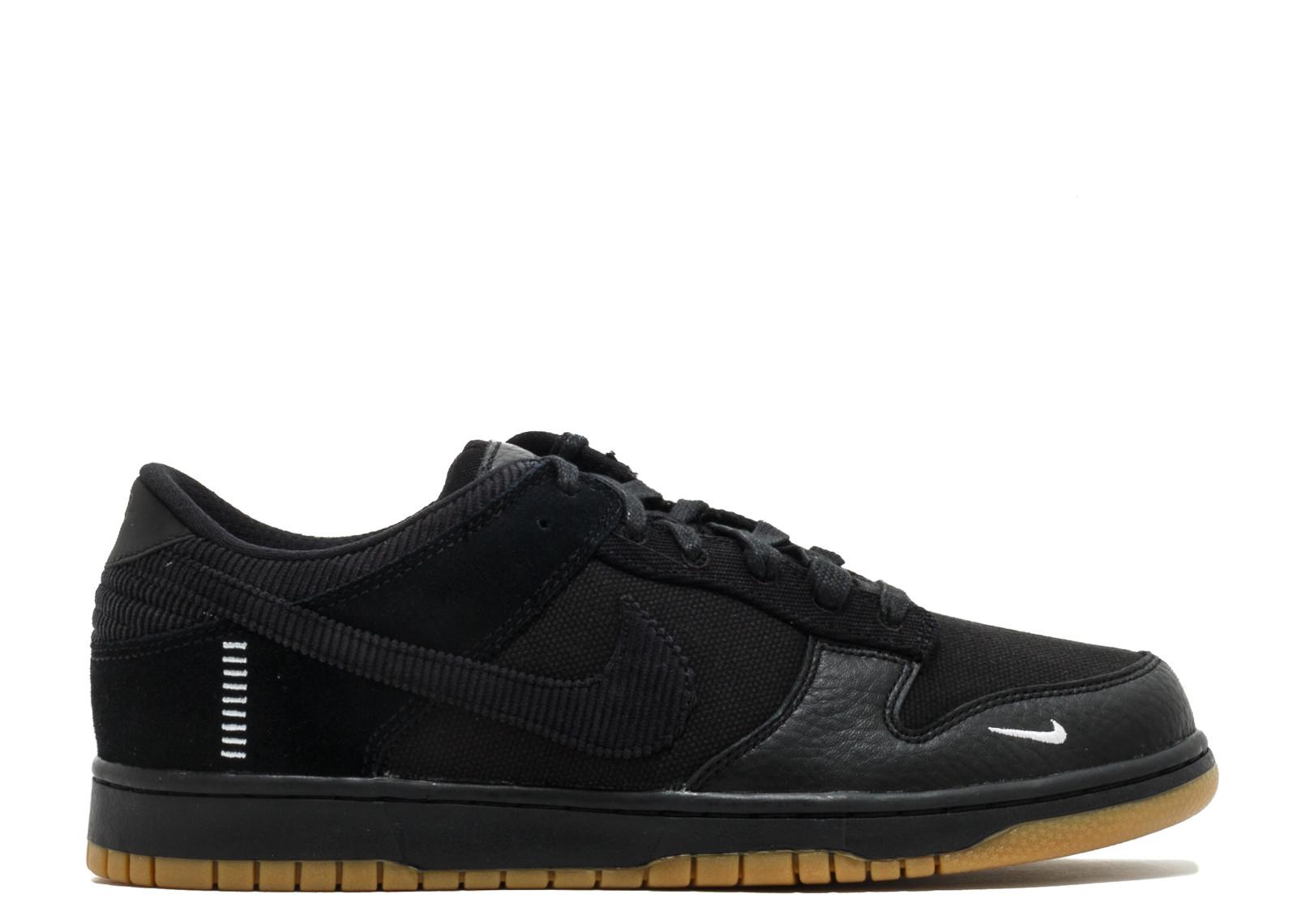 ナイキ ダンク ロー ベースメント メンズ 男性用 スニーカー 靴 メンズ靴 【 NIKE DUNK LOW BSMNT QS BASEMENT BLACK BLACKBLACK 】
