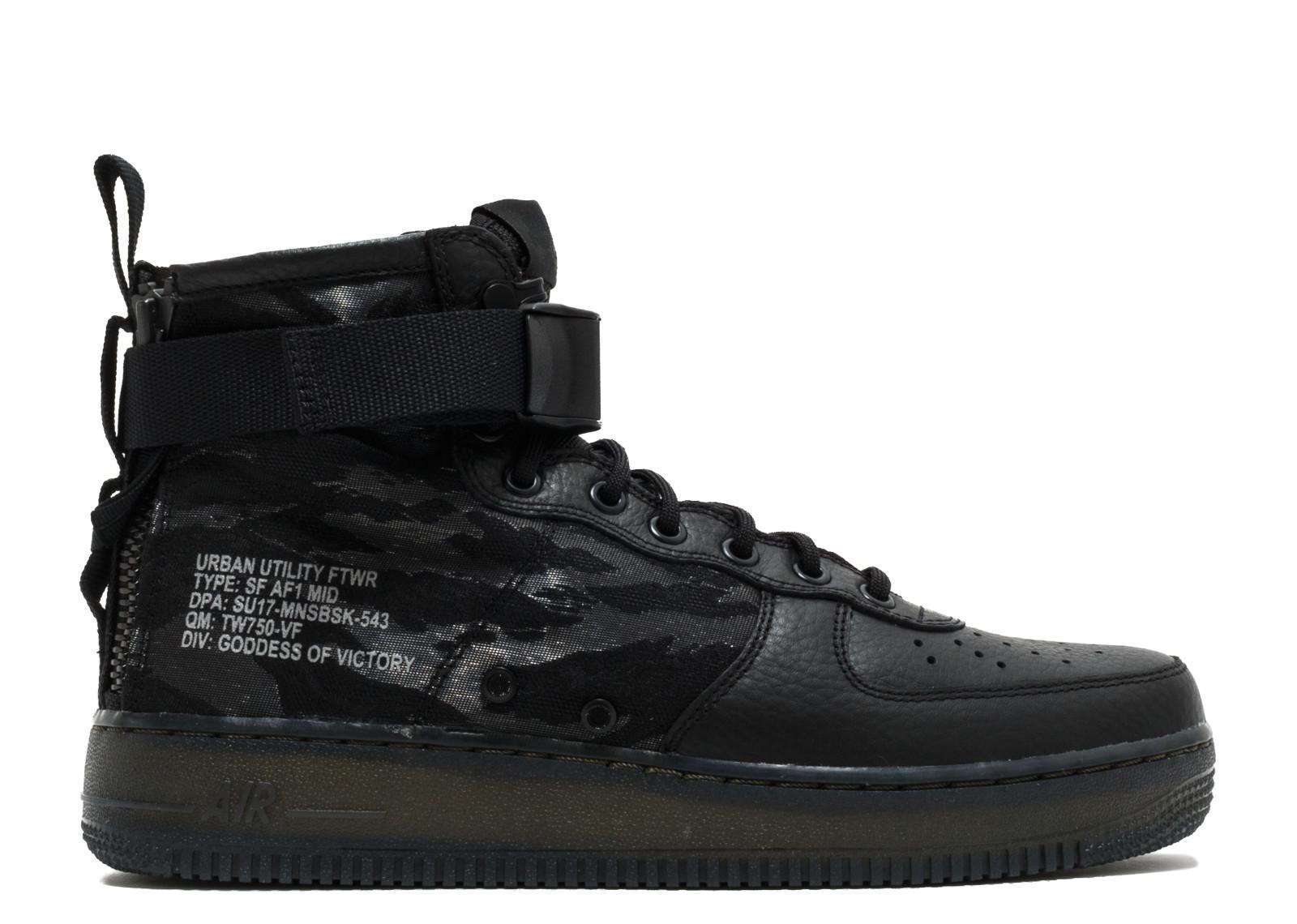 ナイキ エスエフ エアフォース1 ミッド タイガー カモ カーキ メンズ 男性用 靴 メンズ靴 スニーカー 【 NIKE SF AF1 MID QS TIGER CAMO BLACK BLACKCARGO KHAKI 】
