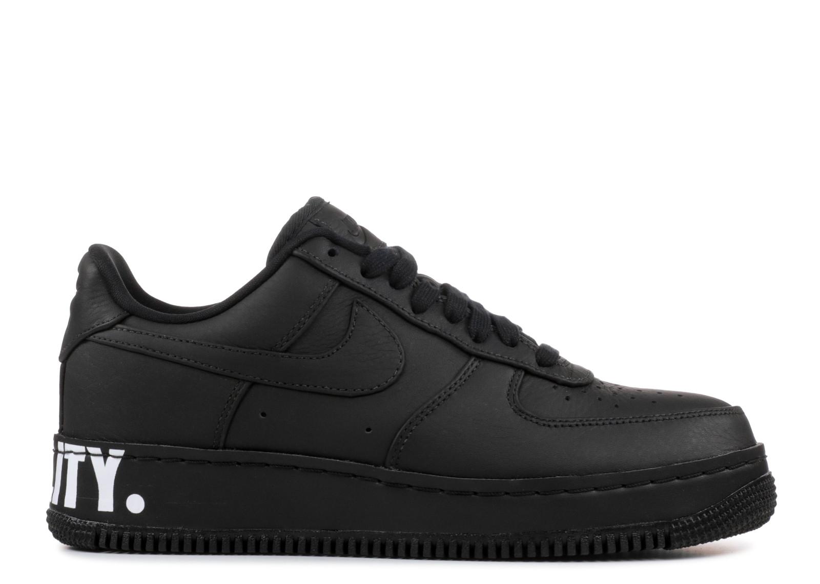 ナイキ エアー フォース メンズ 男性用 靴 スニーカー メンズ靴 【 NIKE AIR FORCE ONE CMFT EQUALITY QS BLACK BLACKWHITEGOLD 】