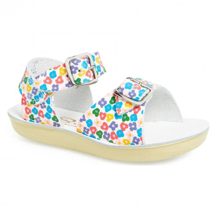 【エントリーで全商品ポイント10倍1/9 20:00-1/16 01:59迄】ソルト ウォーター サンダル フローラル 'SURFER' シューズ ベビー マタニティ 靴 キッズ 【 SALT WATER SANDALS BY HOY SANDAL FLORAL 】