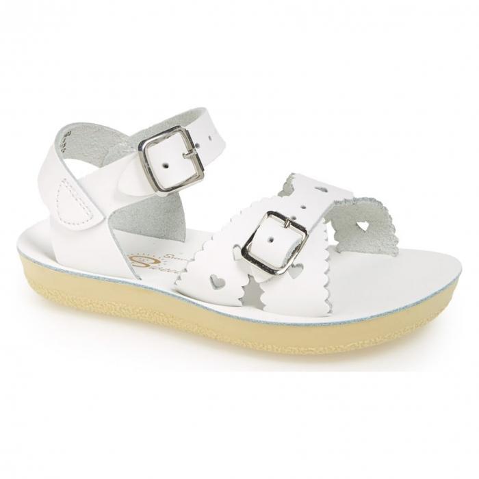【エントリーで全商品ポイント10倍1/9 20:00-1/16 01:59迄】ソルト ウォーター サンダル 白 ホワイト 'SWEETHEART' シューズ キッズ 靴 マタニティ ベビー 【 SALT WATER SANDALS BY HOY SANDAL WHITE 】