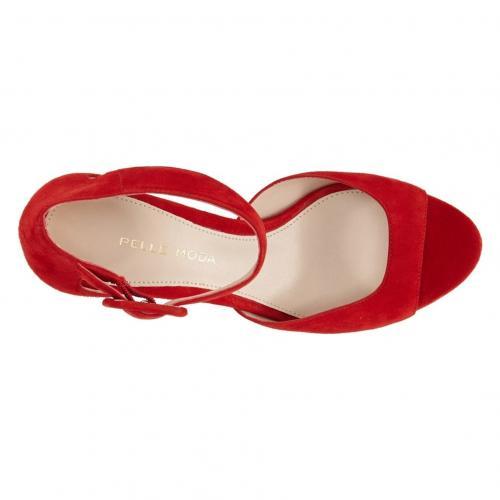 モーダ サンダル リップスティック 赤 レッド スエード スウェード 'BERLIN' シューズ レディース靴 靴 【 PELLE MODA SANDAL LIPSTICK RED SUEDE 】