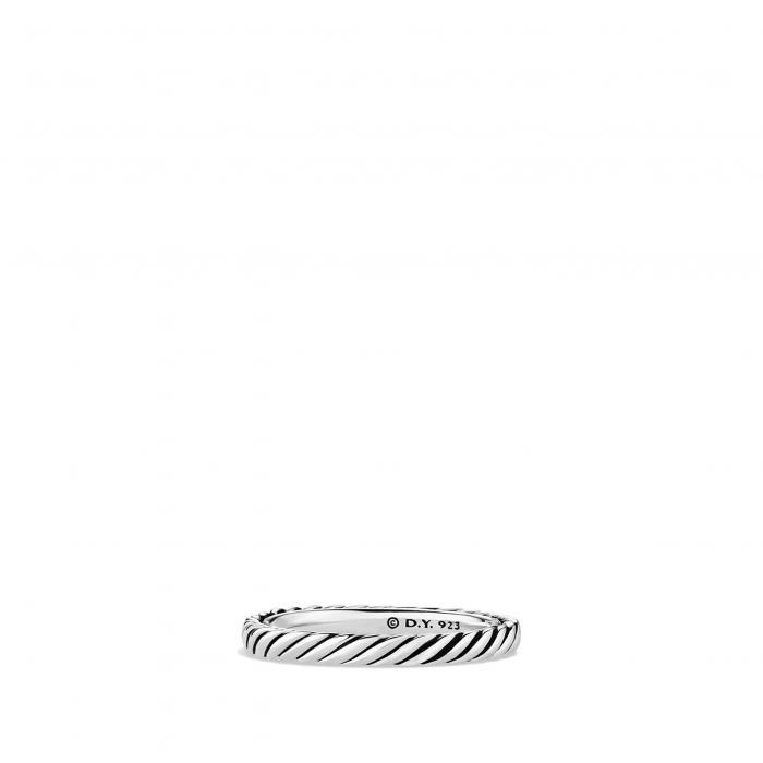 ダビデ バンド リング 銀色 シルバー 'CABLE CLASSICS' アクセサリー ジュエリー レディースジュエリー 指輪 【 DAVID YURMAN BAND RING SILVER 】