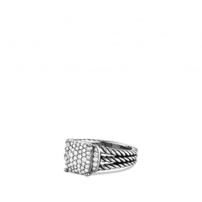 ダビデ 小さいサイズ リング ダイヤモンド 'WHEATON' アクセサリー 指輪 ジュエリー レディースジュエリー 【 DAVID YURMAN PETITE RING WITH DIAMONDS DIAMOND 】