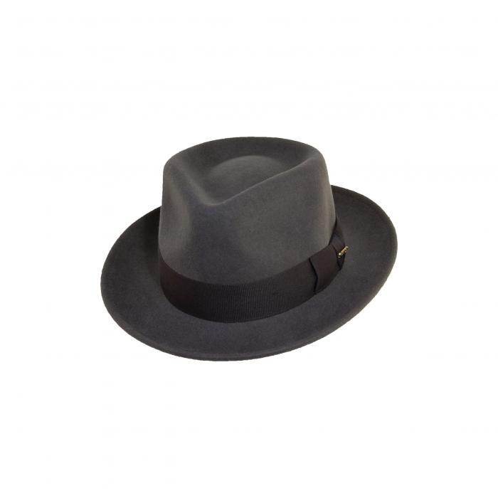 ウール フェルト GRAY灰色 グレイ キャップ ハット ブランド雑貨 帽子 バッグ 小物 メンズ帽子 【 GREY SCALA CLASSICO WOOL FELT FEDORA 】