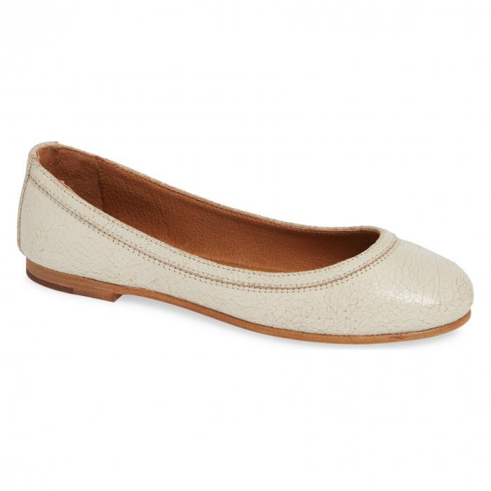 フライ バレエ フラット オフ 白 ホワイト 'CARSON' シューズ 靴 カジュアルシューズ レディース靴 【 FRYE BALLET FLAT OFF WHITE 】