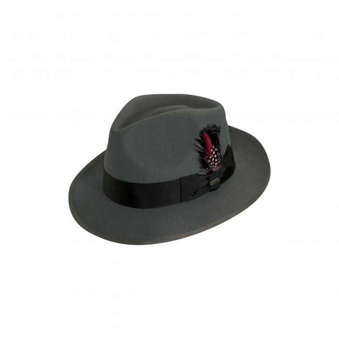 ウール フェルト スナップ ブライム ハット GRAY灰色 グレイ 'CLASSICO' キャップ 帽子 小物 メンズ帽子 バッグ ブランド雑貨 【 GREY SCALA WOOL FELT SNAP BRIM HAT 】