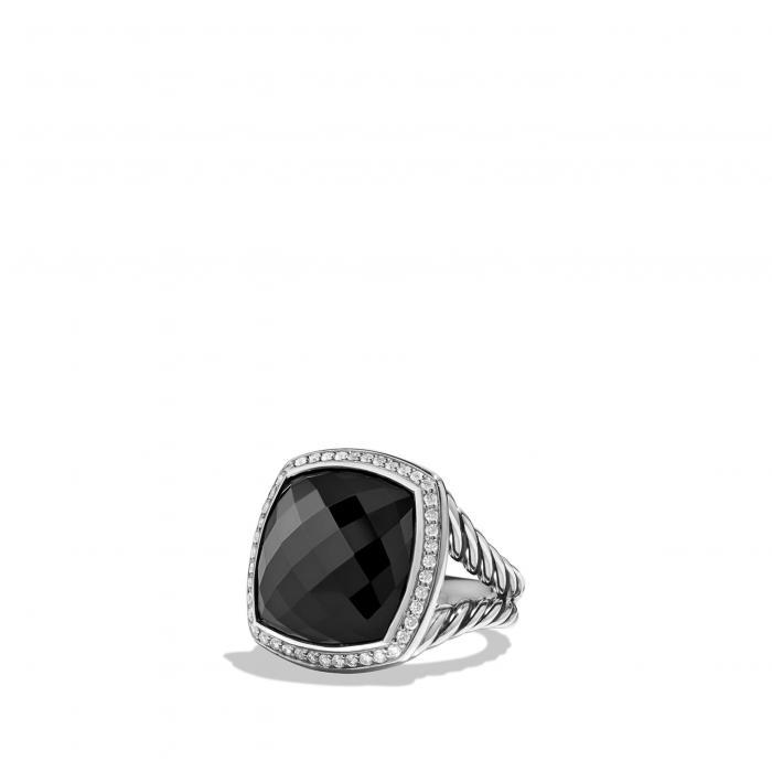 ダビデ リング 黒 ブラック オニキス 'ALBION' アクセサリー ジュエリー 指輪 レディースジュエリー 【 BLACK DAVID YURMAN RING WITH DIAMONDS ONYX 】