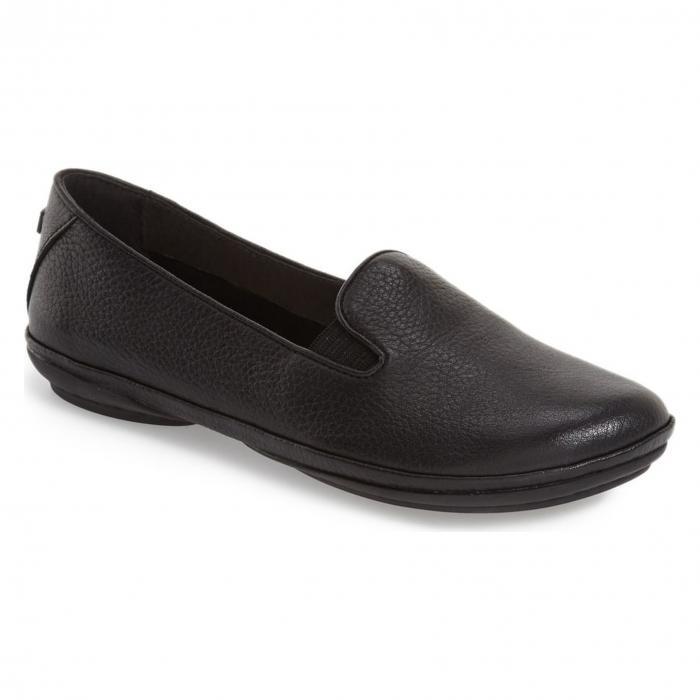 キャンパー レザー フラット ブラック 黒 'RIGHT NINA' シューズ レディース靴 靴 カジュアルシューズ 【 BLACK CAMPER LEATHER FLAT 】