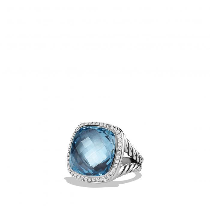 ダビデ リング 青 ブルー トパーズ 'ALBION' アクセサリー ジュエリー 指輪 レディースジュエリー 【 BLUE DAVID YURMAN RING WITH DIAMONDS TOPAZ 】