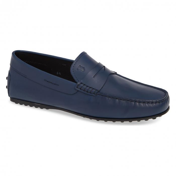 【エントリーで全商品ポイント10倍1/9 20:00-1/16 01:59迄】ペニー ドライビング モカシン ライト 青 ブルー TOD'S 'GOMMINI' シューズ キッズ マタニティ 靴 ベビー 【 BLUE PENNY DRIVING MOCCASIN LIGHT 】