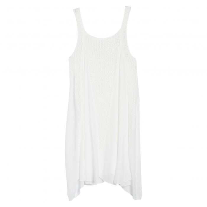 カバーアップ ドレス ワンピース 白 ホワイト レディースファッション 水着 【 ELAN CROCHET INSET COVERUP DRESS WHITE 】