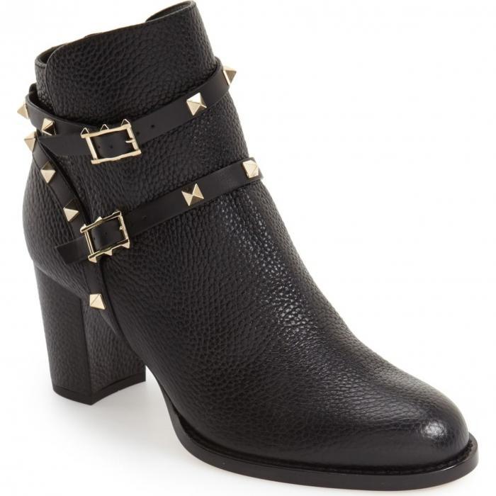 黒 ブラック 'ROCKSTUD' シューズ 靴 レディース靴 ブーツ 【 BLACK VALENTINO GARAVANI BOOTIE 】