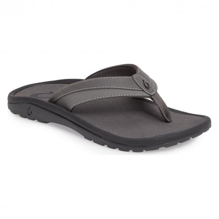 フリップ フロップ チャコール 'OHANA KOA' シューズ 靴 メンズ靴 コンフォートシューズ 【 OLUKAI FLIP FLOP CHARCOAL 】