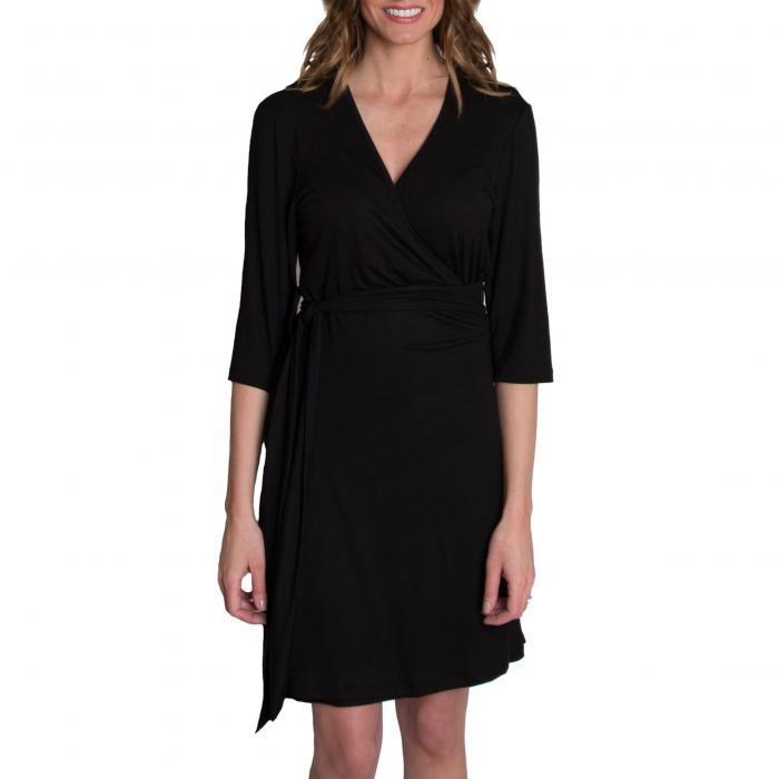 ホット ママ ラップ ドレス ワンピース 黒 ブラック 'WHIMSICAL' ベビー マタニティウエア 授乳服 マタニティ キッズ 【 WRAP BLACK UDDERLY HOT MAMA NURSING DRESS 】