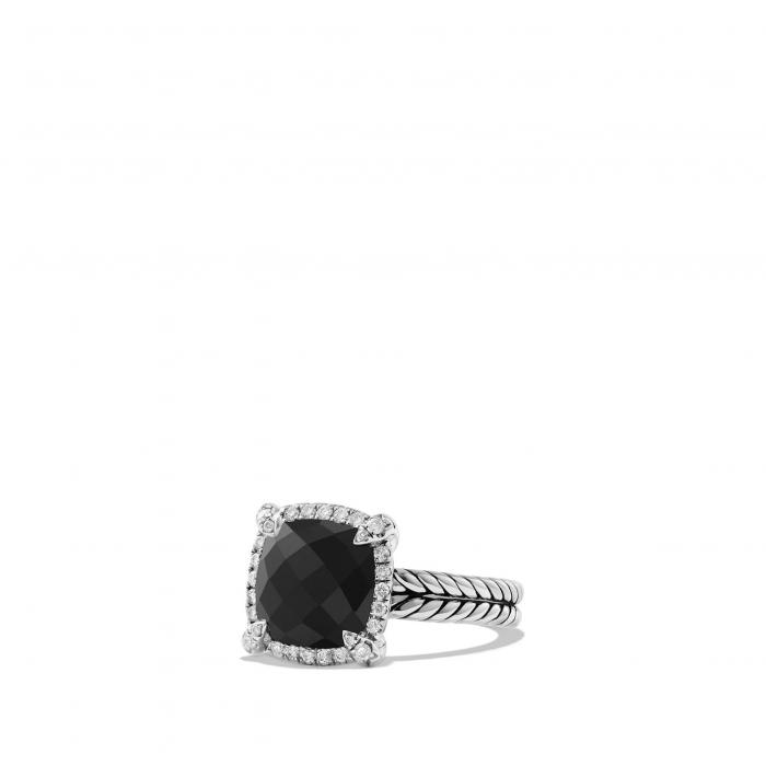 ダビデ スモール ベゼル リング 黒 ブラック オニキス 'CH TELAINE' PAV アクセサリー 指輪 ジュエリー レディースジュエリー 【 BLACK DAVID YURMAN SMALL BEZEL RING WITH DIAMONDS ONYX 】