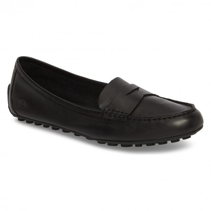 ドライビング ルンペン 黒 ブラック レザー B RN シューズ コンフォートシューズ レディース靴 靴 【 BLACK MALENA DRIVING LOAFER LEATHER 】