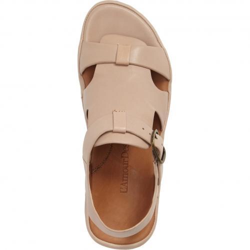 サンダル ヌード レザー L'AMOUR シューズ コンフォートシューズ 靴 レディース靴 【 DES PIEDS VILLEFRANCHE SANDAL NUDE LEATHER 】