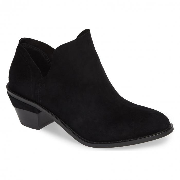 ブルックリン 黒 ブラック スエード スウェード シューズ ブーツ レディース靴 靴 【 BLACK KELSI DAGGER BROOKLYN KENMARE BOOTIE SUEDE 】