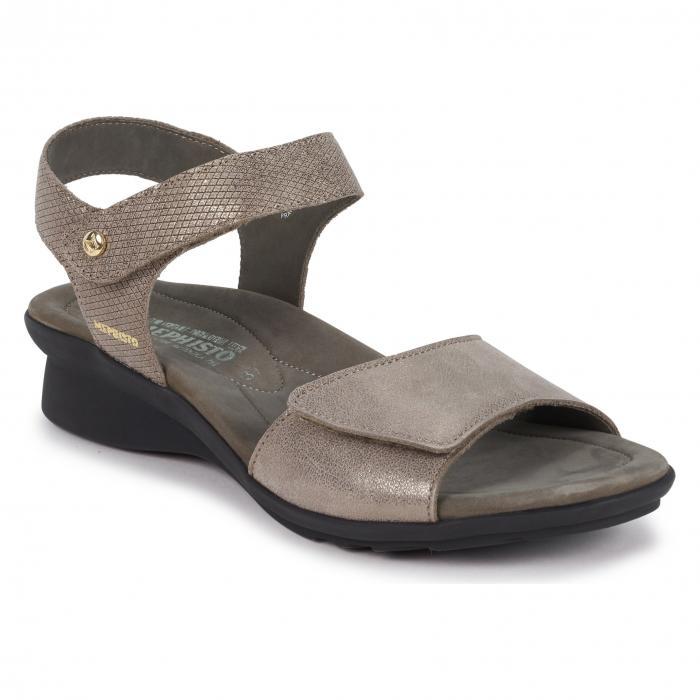 サンダル ダーク シューズ コンフォートシューズ レディース靴 靴 【 MEPHISTO PATTIE SANDAL DARK TAUPE 】