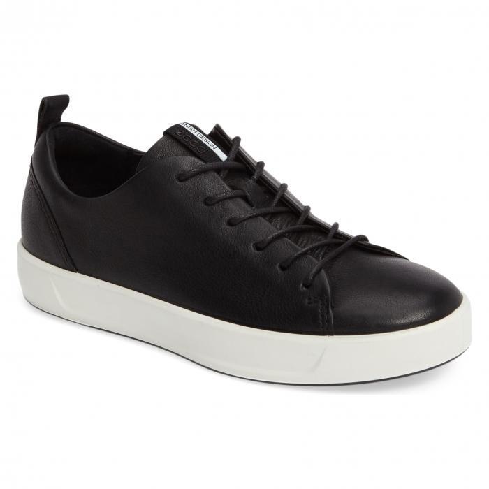 エコー ソフト スニーカー 黒 ブラック レザー シューズ レディース靴 コンフォートシューズ 靴 【 BLACK ECCO SOFT 8 SNEAKER LEATHER 】