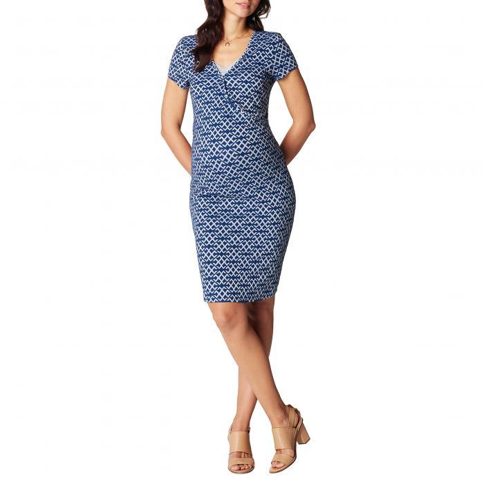 ドレス ワンピース 青 ブルー ママ マタニティ ベビー マタニティウエア キッズ 授乳服 【 BLUE NOPPIES ELISA MATERNITY NURSING DRESS 】