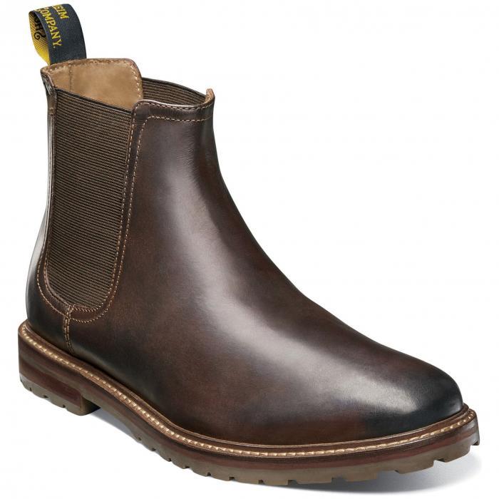 ミッド チェルシー ブーツ 茶 ブラウン クレイジー ホース レザー シューズ メンズ靴 靴 【 FLORSHEIM ESTABROOK MID CHELSEA BOOT BROWN CRAZY HORSE LEATHER 】