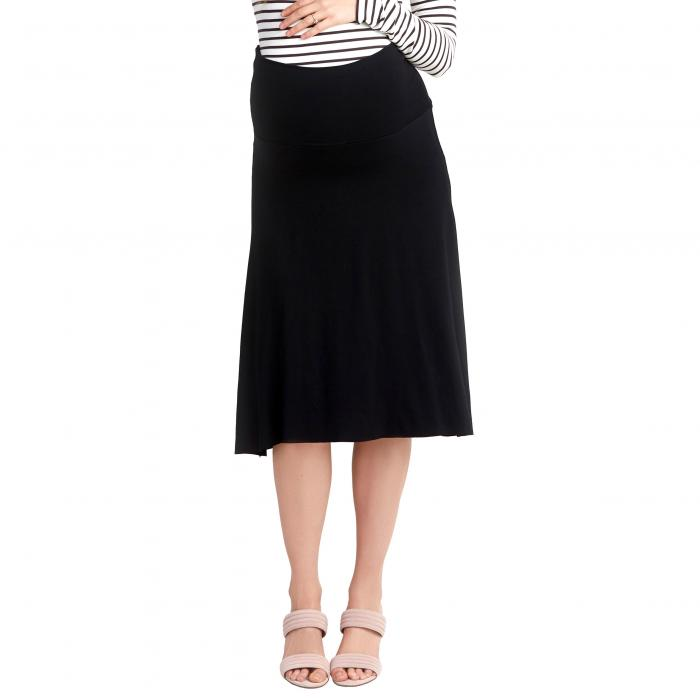 マタニティ スカート 黒 ブラック ボトムス レディースファッション 【 BLACK NOM MATERNITY NOLA SKIRT 】