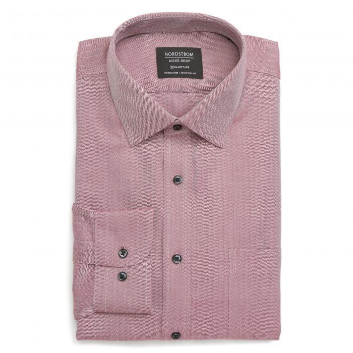 ショップ トラディショナル フィット ヘリンボーン ドレス ワンピース シャツ ワイン色 バーガンディー ロワイヤル MEN'S SMARTCARE < SUP> トップス 長袖 ワイシャツ メンズファッション 【 N