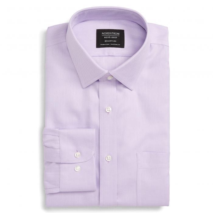 ショップ トラディショナル フィット ヘリンボーン ドレス ワンピース シャツ 紫 パープル リーガル MEN'S SMARTCARE < SUP> トップス 長袖 メンズファッション ワイシャツ 【 PURPLE NORDSTROM SHOP
