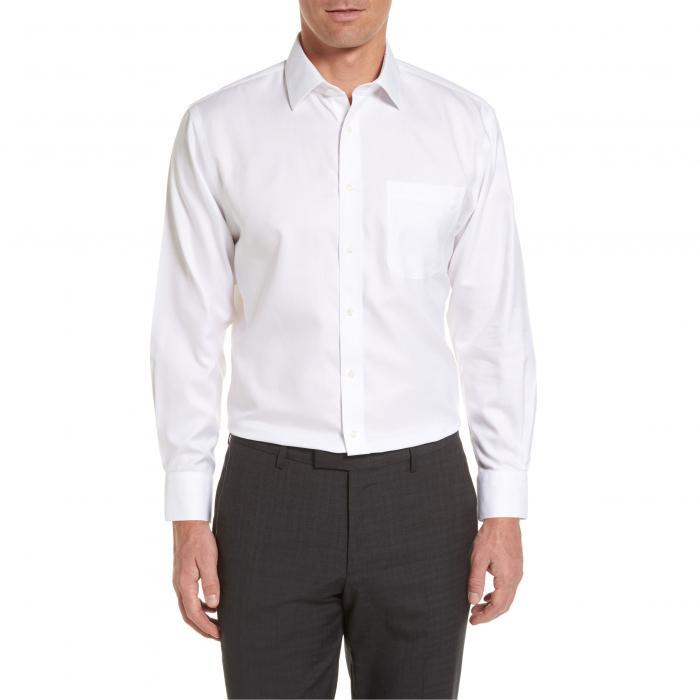 ショップ トラディショナル フィット ヘリンボーン ドレス ワンピース シャツ 白 ホワイト MEN'S SMARTCARE < SUP> トップス 長袖 ワイシャツ メンズファッション 【 NORDSTROM SHOP TRADITIONAL FIT HERR