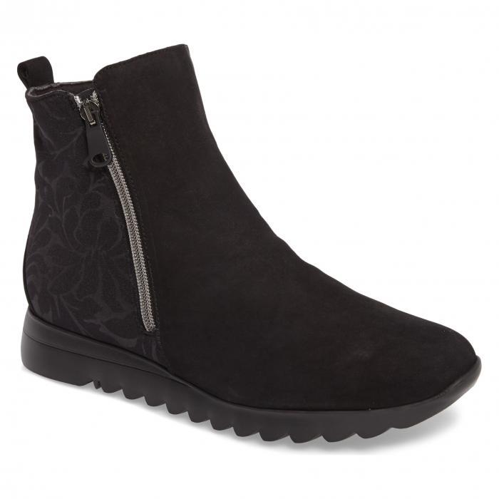 黒 ブラック ヌバック シューズ 靴 レディース靴 ブーツ 【 BLACK MUNRO ASHCROFT BOOTIE NUBUCK 】