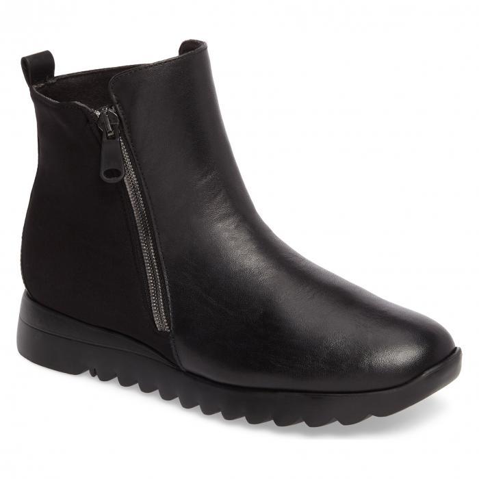 黒 BOOTIE ブラック レザー シューズ シューズ ブーツ LEATHER レディース靴 靴【 BLACK MUNRO ASHCROFT BOOTIE LEATHER】, ケースリー:882469f6 --- debyn.com