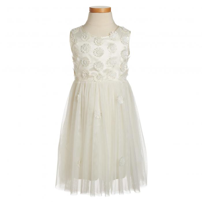 デイジー ノンスリーブ ドレス ワンピース 白 ホワイト キッズ マタニティ ベビー 【 SLEEVELESS POPATU DAISY DRESS WHITE 】