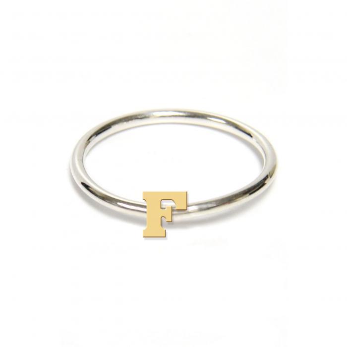 ジェーン デザイン ツートーン イニシアル リング アクセサリー 指輪 レディースジュエリー ジュエリー 【 JANE BASCH DESIGNS TWOTONE INITIAL RING GOLD F 】