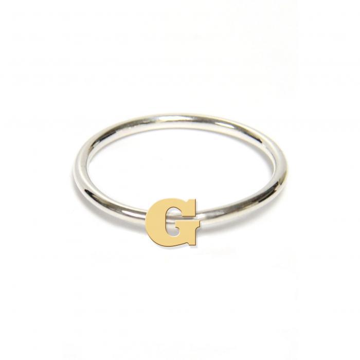 ジェーン デザイン ツートーン イニシアル リング アクセサリー 指輪 レディースジュエリー ジュエリー 【 JANE BASCH DESIGNS TWOTONE INITIAL RING GOLD G 】