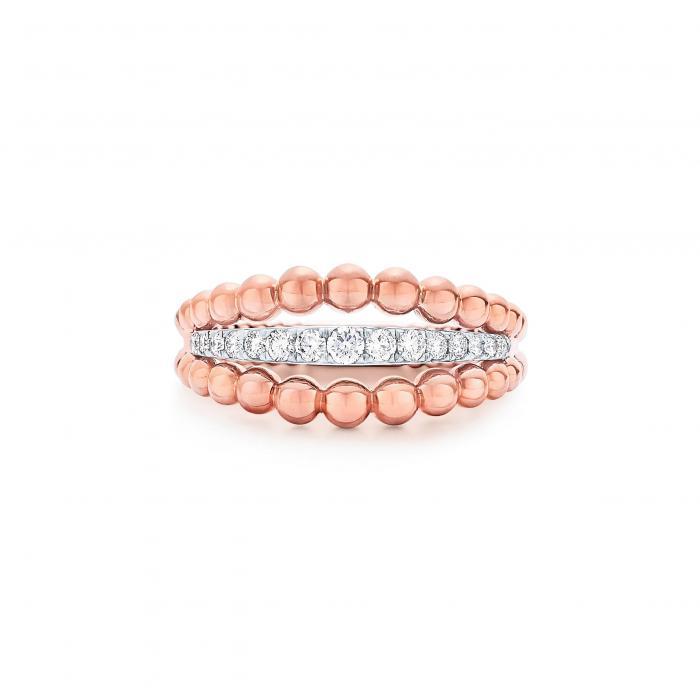 ビーズ ダイヤモンド リング ローズ ゴールド 金 アクセサリー ジュエリー レディースジュエリー 指輪 【 ROSE KWIAT BEADED DIAMOND RING GOLD 】