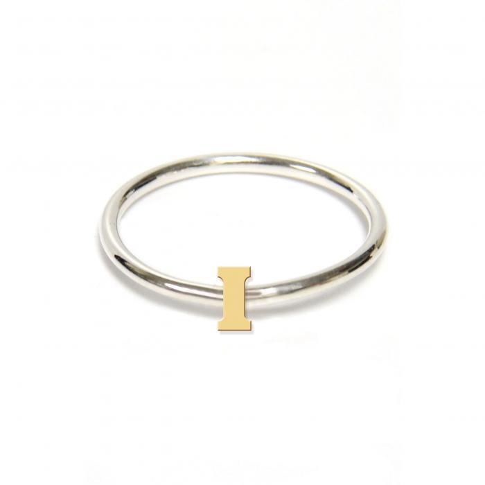 ジェーン デザイン ツートーン イニシアル リング アクセサリー レディースジュエリー ジュエリー 指輪 【 JANE BASCH DESIGNS TWOTONE INITIAL RING GOLD I 】