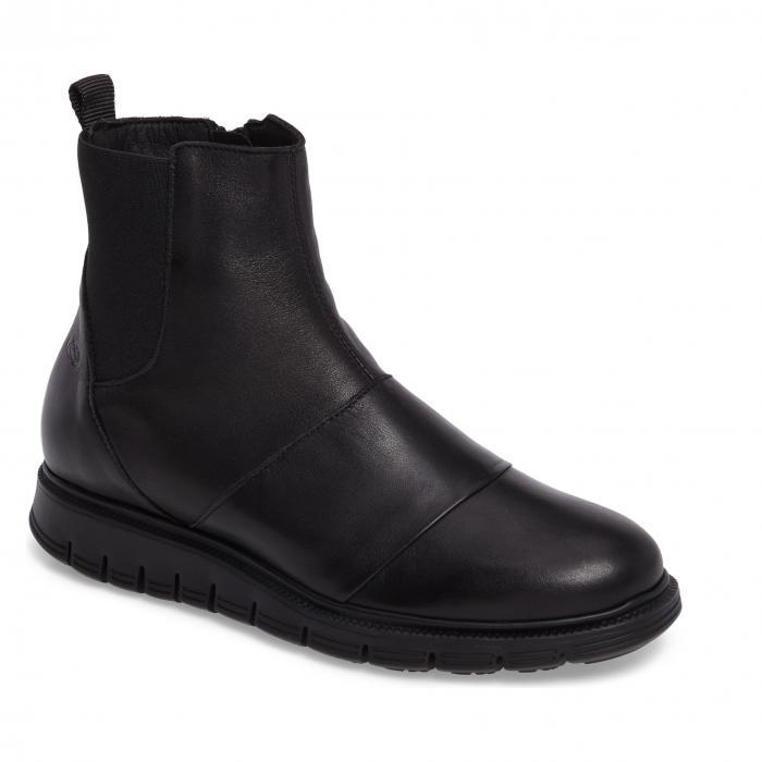 クラウド ウォーターレジスタント 黒 ブラック レザー シューズ レディース靴 ブーツ 靴 【 BLACK CLOUD GISH WATERRESISTANT BOOTIE LEATHER 】