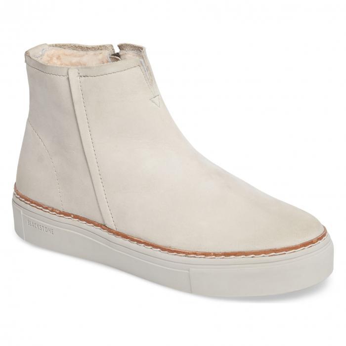 ブラックストーン ムートン ウィンド ヌバック シューズ 靴 レディース靴 ブーツ 【 BLACKSTONE OL27 GENUINE SHEARLING LINED BOOTIE WIND CHIME NUBUCK 】