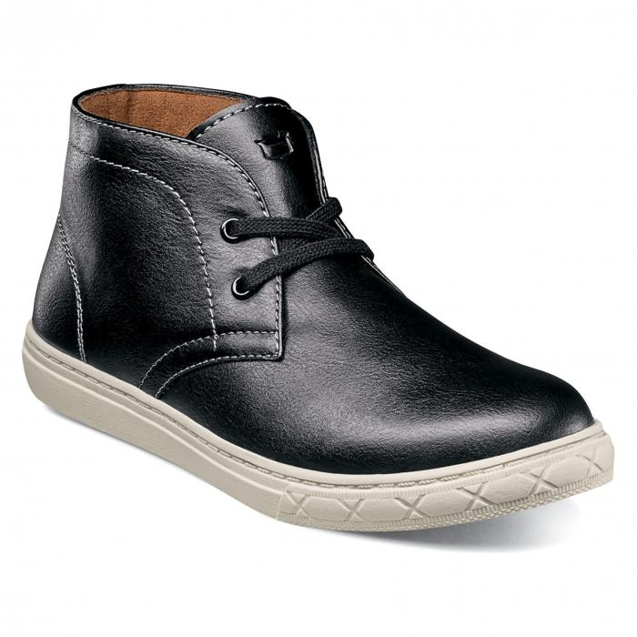 カーブ チャッカ スニーカー ブーツ 黒 ブラック シューズ マタニティ 靴 ベビー キッズ 【 BLACK FLORSHEIM CURB CHUKKA SNEAKER BOOT 】