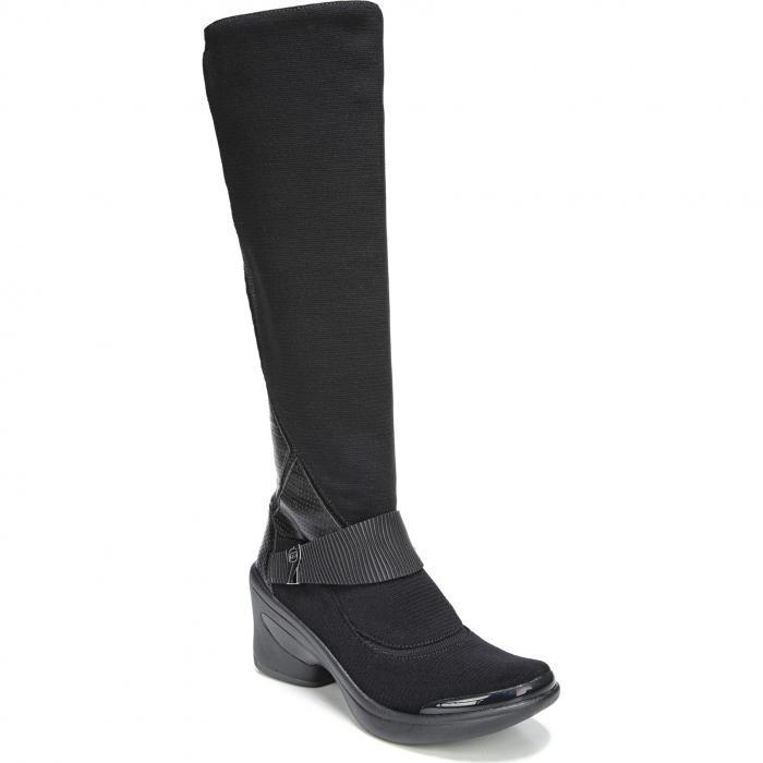 エンチャント ブーツ 黒 ブラック ファブリック シューズ 靴 レディース靴 【 BLACK BZEES ENCHANTED BOOT FABRIC 】