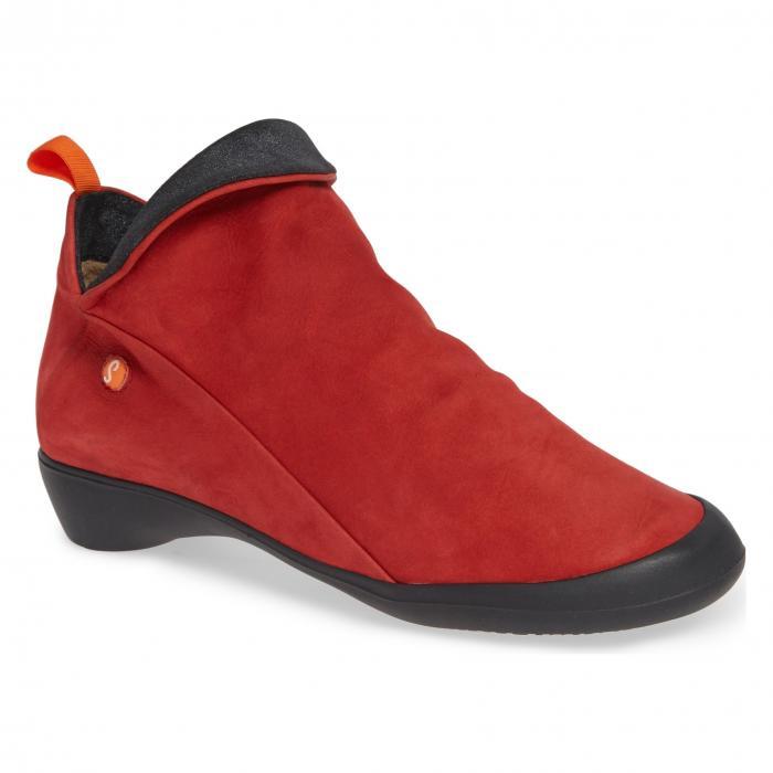 フライ ロンドン ファラー ヌバック コンボ シューズ レディース靴 靴 ブーツ 【 SOFTINOS BY FLY LONDON FARAH BOOTIE RED ANTHRACITE NUBUCK COMBO 】